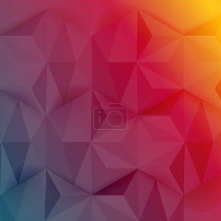 Illustration pour Fond abstrait vectoriel. Origami et polygone géométrique - image libre de droit