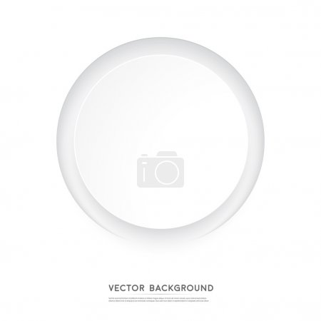 Vector Paper circle banner. Abstract background. C...