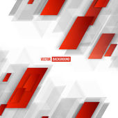 Vector Abstract geometric shape from red lines