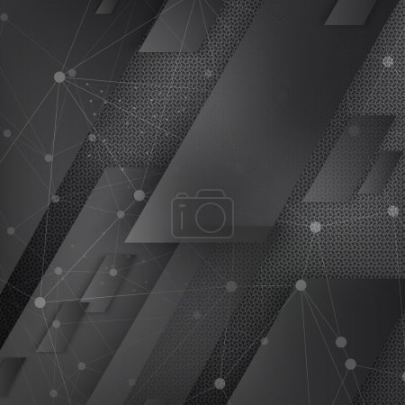Illustration for Vector Abstract geometric shape from black lines - Royalty Free Image