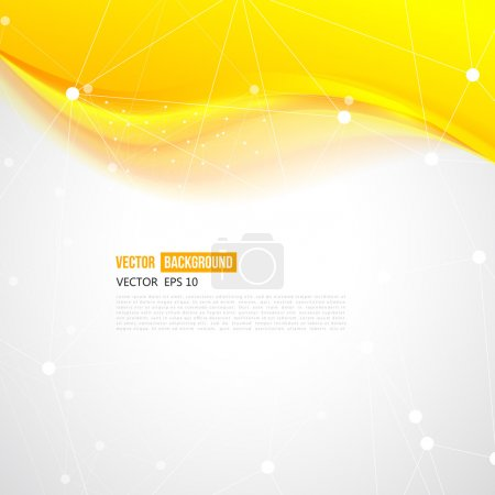 Illustration for Vector abstract orange background design waves. Brochure design templates collection and waving - Royalty Free Image