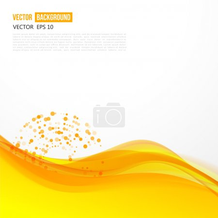 Illustration for Vector abstract orange background design wavy. Brochure design templates collection and waving - Royalty Free Image