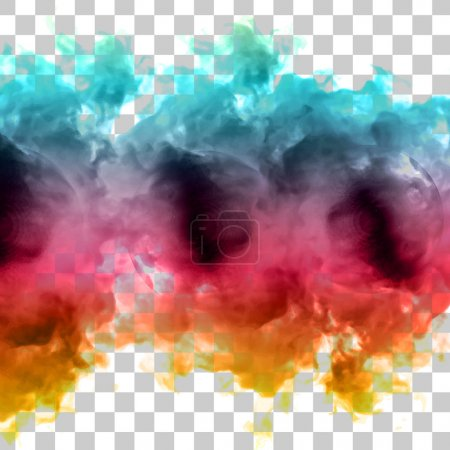 Vector color cloud. Floral Background with Smoke, Watercolor Texture