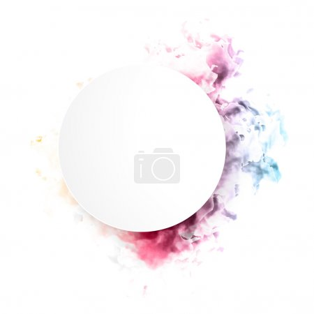 Illustration for Vector color cloud. Floral Background with Smoke, Watercolor Texture - Royalty Free Image