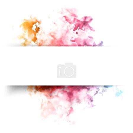 Illustration pour Nuage de couleurs vectorielles. Fond floral avec fumée, texture aquarelle - image libre de droit