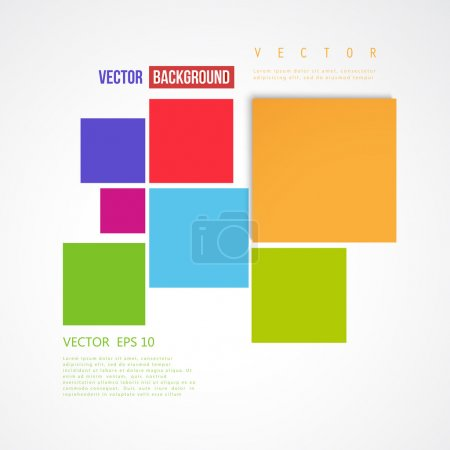 Illustration for Vector Abstract geometric shape from color squares - Royalty Free Image