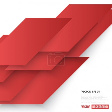 Illustration for Vector Abstract geometric shape from red lines - Royalty Free Image
