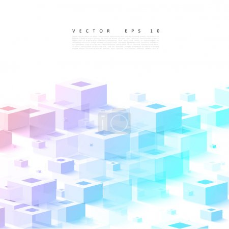 Illustration for Vector Abstract geometric shape from cubes. squares - Royalty Free Image