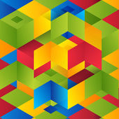 Vector Abstract geometric shape from cubes squares