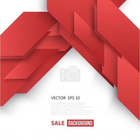 Illustration for Vector Abstract geometric shape from red diagonal - Royalty Free Image