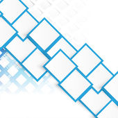 Vektorové modré čtverečky. Abstraktní pozadí