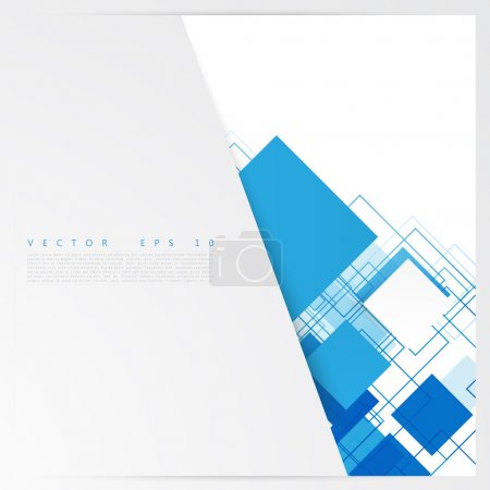 Illustration for Vector blue squares. Abstract background. Sky blank - Royalty Free Image
