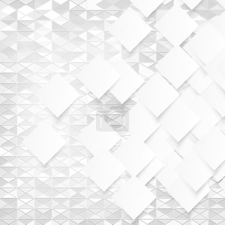Vector white squares. Abstract background