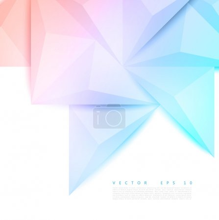 Illustration for Vector background abstract polygon triangle. polygonal design geometrical - Royalty Free Image