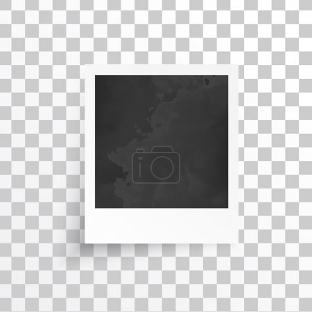 Illustration for Vector white frames. Picture photo frame and shadow - Royalty Free Image
