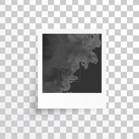 Illustration pour Cadres vectoriels blancs. Cadre photo et ombre - image libre de droit