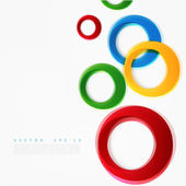 Vector colorful circle Beautiful color design elements