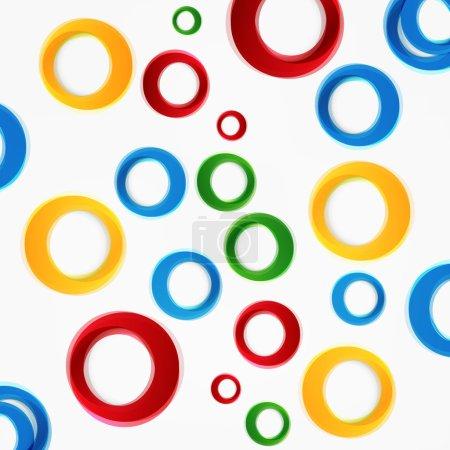 Vector colorful circle.