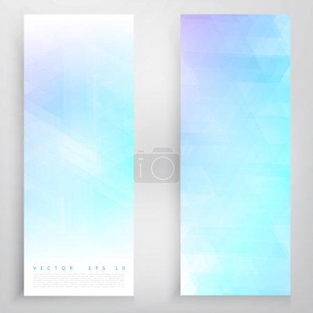 Illustration for Set of circles banners. Vector modern geometrical abstract background. Blue circles - Royalty Free Image