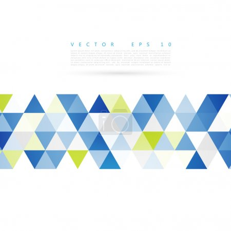 Illustration for Vector Abstract background. blue triangular shapes. Triangles - Royalty Free Image
