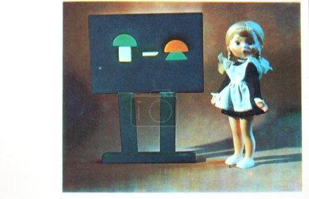 soviet postcard devoted to  first september