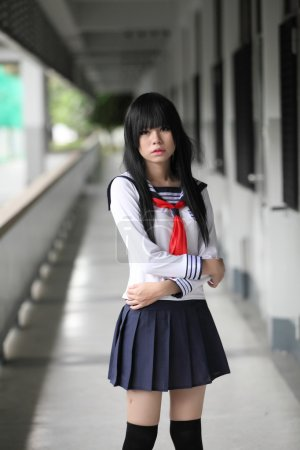 Asian schoolgirl