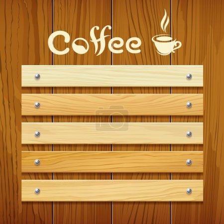 Coffee menu wood board design