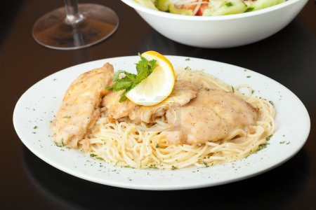 Chicken Francaise with Pasta
