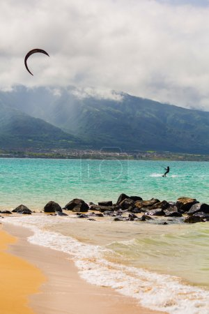 Kite Surfer on Beach