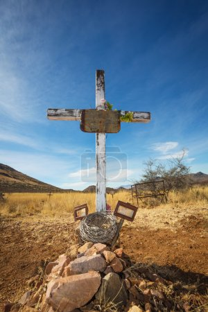 Stone Grave with Blank Frame