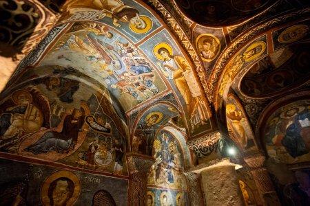 Detail from Carikli Kilise at Goreme in Turkey
