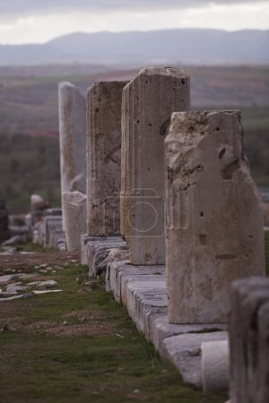 Remains of Columns in Turkey