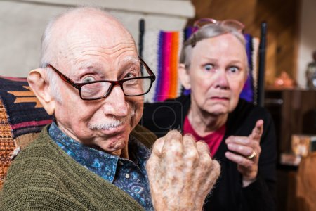 Tough elderly couple