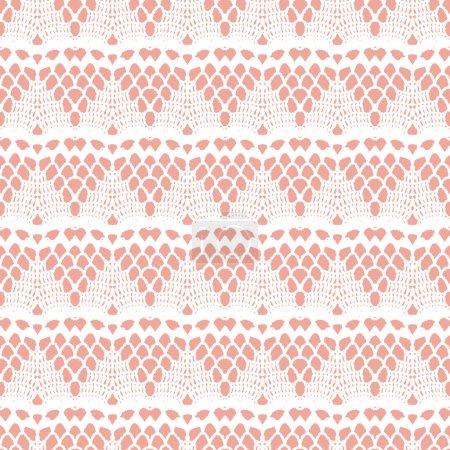 Lace white seamless mesh pattern