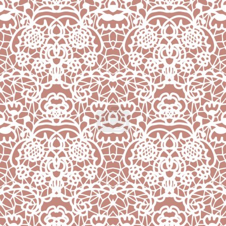 Illustration for Lace white seamless mesh pattern. Vector illustration - Royalty Free Image