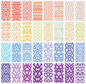 Tribal colorful lace patterns Trendy modern patterns for your design Vector illustration