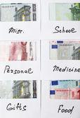 Rozdělení peněz, finanční plánování