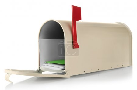 Mailbox with colorful correspondence