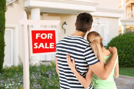 Couple looking at dream house