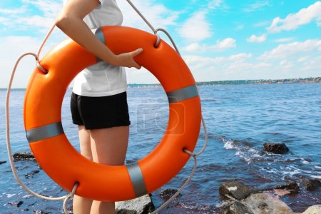 Girl with life buoy