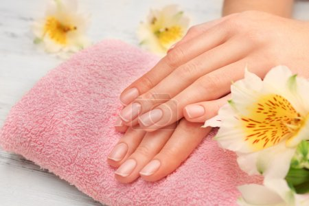 Woman hands with beautiful manicure