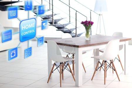 Smart home control concept.