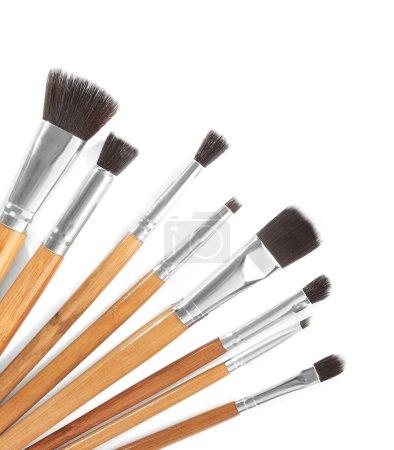 Make up brushes  on white