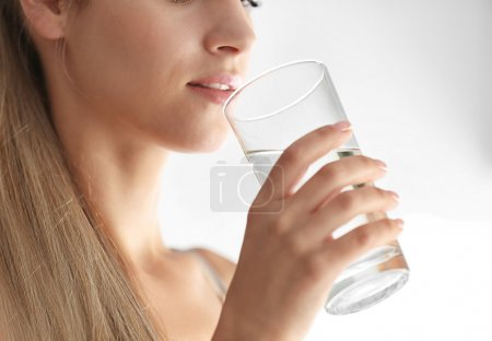 Girl drinking water