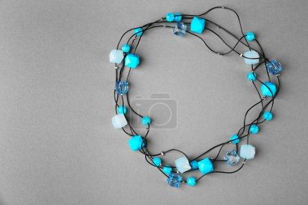 Stylish blue beads