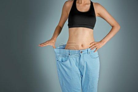 Girl in huge pants