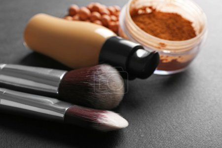 Make up brushes and foundations