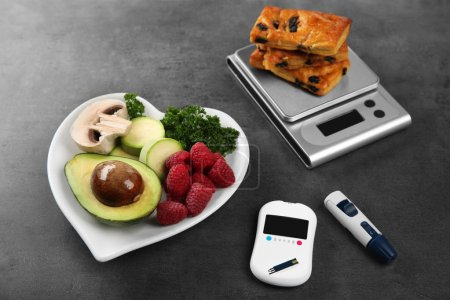 Glucose meter with food