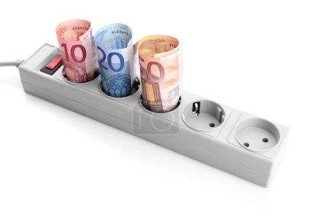 Banknotes in power socket