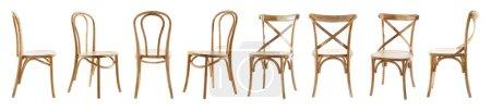 Photo pour Collage de chaises élégantes, isolées sur blanc - image libre de droit